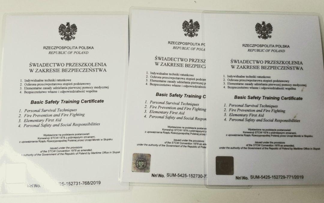 Certyfikaty STCW